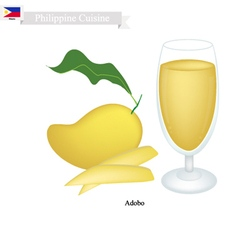 Mango Juice A Famous Beverage in Philippines vector