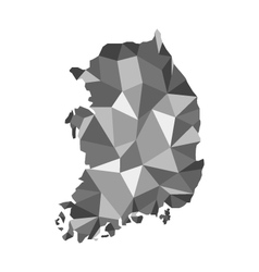 Map of Korea polygon vector image