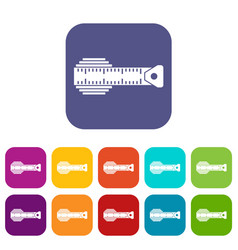Measuring centimeter icons set vector