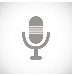 Microphone black icon vector