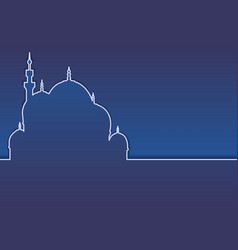 Modern islamic horizontal background or banner vector