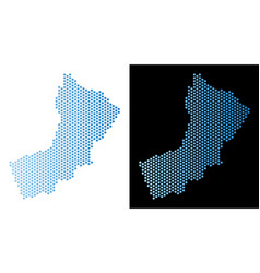 Oman map hex tile abstraction vector