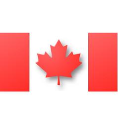 paper cut canada flag vector image