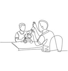 parenting concept single line drawing of vector image