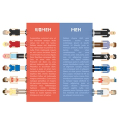 Pixel men and women vector image