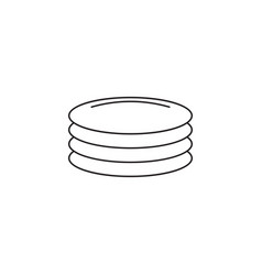 plates dishes line icon outline sign vector image
