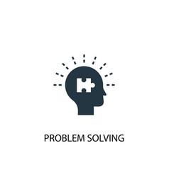 Problem solving icon simple element vector