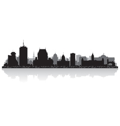 Quebec Canada city skyline silhouette vector image