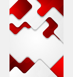 Red and grey abstract modern corporate background vector