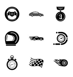 ride journey icons set simple style vector image