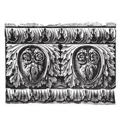 Roman cornice richly ornamented roman ovolo vector