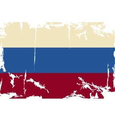Russian grunge flag vector image