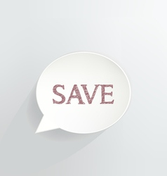 SAVE vector image