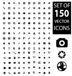 Set of 150 icons vector image