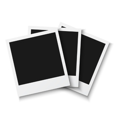 Set of Vintage Photo Frame Isolated on White vector image