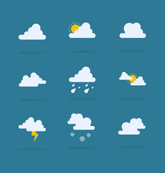 Set of weather flat vector