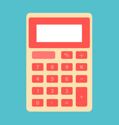 shcool calculator icon in flat style isolated on vector image