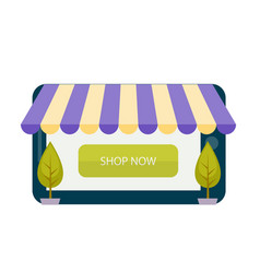 shop now online shopping concept image vector image