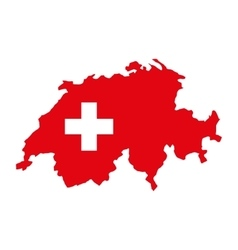 Swiss emblem isolated icon vector