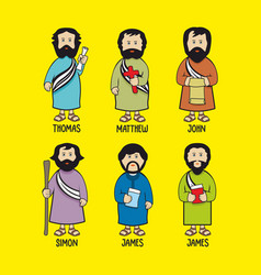 The apostles of jesus christ vector