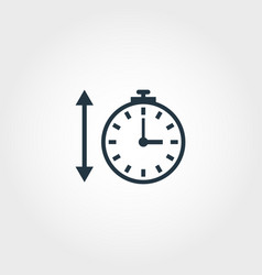 time measurement icon from measurement icons vector image