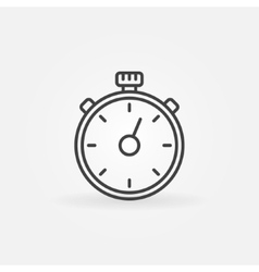Timer line icon vector
