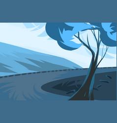 Tree landscape scene vector