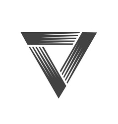 Triangle classic speed blast symbol graphic design vector