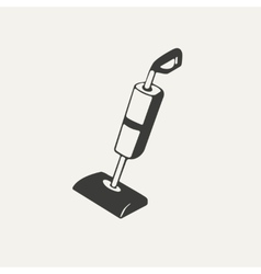 vacuum cleaner Black and white vector image
