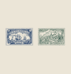 Vintage postage stamp for album ancient vector