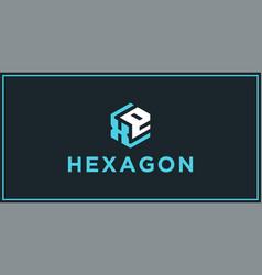 Xe hexagon logo design inspiration vector