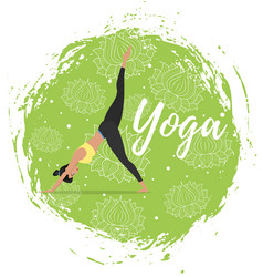 Yoga training in flat style vector