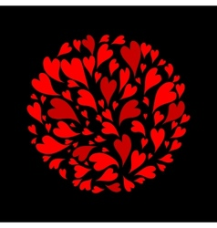 Red hearts background for your design vector image