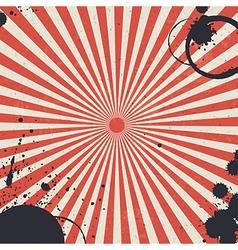red sunburst background vector image vector image