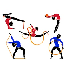Rhythmic gymnastics vector image vector image