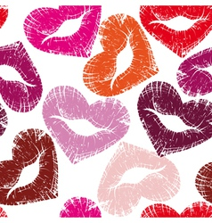 seamless kisses vector image vector image