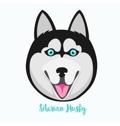 Siberian husky icon flat vector