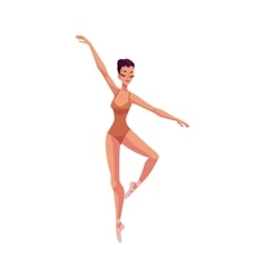 Young beautiful dancer in tights and ballet shoes vector image