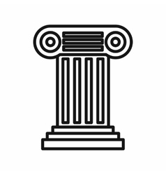 Ancient Ionic pillar icon outline style vector image vector image