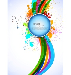 Bright colorful background vector image vector image