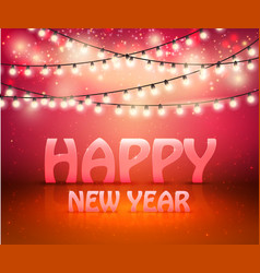 happy new year greeting background with shine and vector image vector image