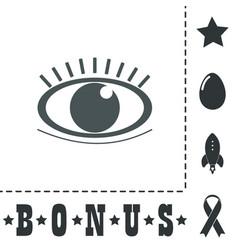 Icon - human eye vector