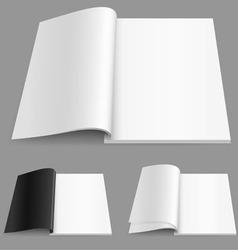 realistic magazine vector image vector image