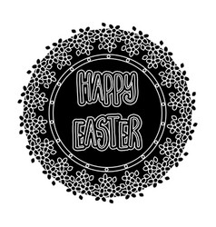 sticker happy easter easter single icon in black vector image