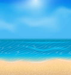 Summer holiday background with sunlight vector image vector image