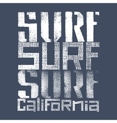 Surfing print 004 vector image