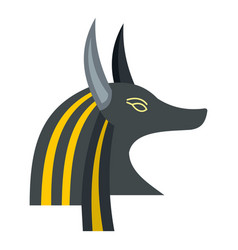 anubis head icon isolated vector image