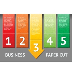 Business paper cut template vector image