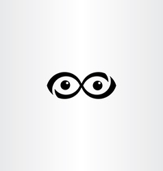 infinity eyes icon symbol element vector image vector image