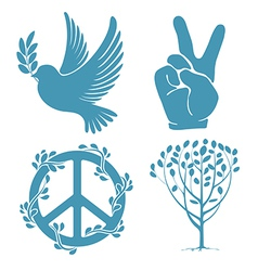 Peace set vector image vector image